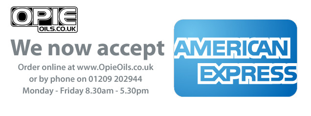 Opie Oils now accept American Express