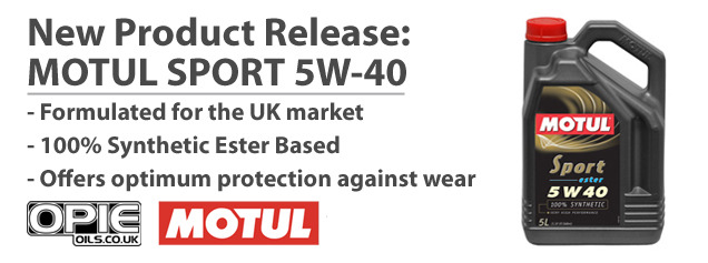 New Product Release: Motul Sport 5w-40