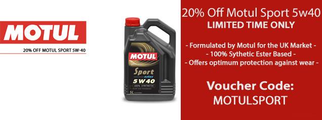 20% Off Motul Sport 5w-40 | Voucher Code: MOTULSPORT