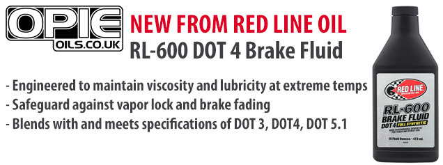 Red Line RL-600 DOT 4 Brake Fluid available at Opie Oils