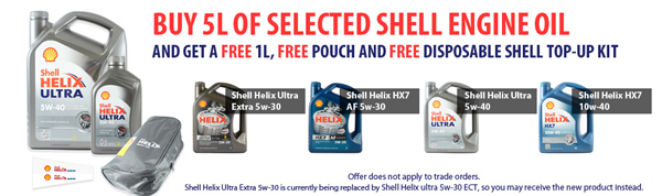 Shell Helix 5&1 Free Offer
