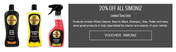 Simoniz Cleaning & Detailing produts
