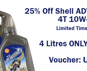 25% Off Shell Advance Ultra 4T 10w-40