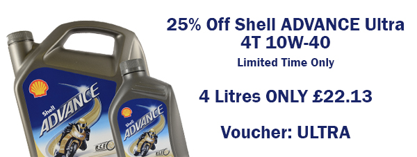 25% Off Shell Advance Ultra 4T 10w-40