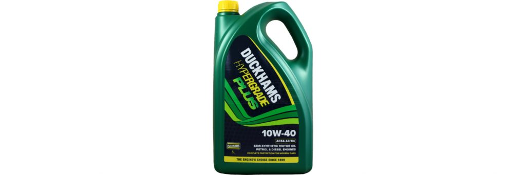 The Duckhams Hypergrade motor engine oil is available at Opie Oils